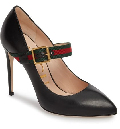 Gucci Sylvie Mary Jane Pump (Women)   Nordstrom