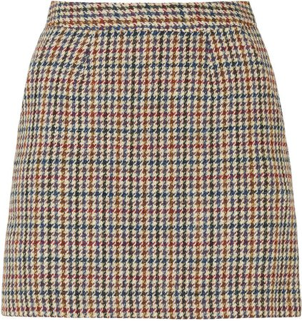 Giuliva Heritage The Theo Checked Wool Mini Skirt