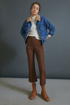 Dulcea Cropped Flare Pants | Anthropologie