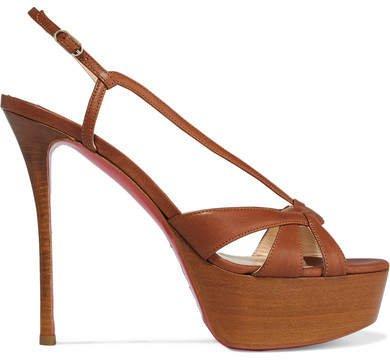 Veracite 130 Leather Platform Sandals - Tan