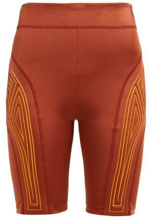 Logo Embossed Performance Shorts - Womens - Dark Orange