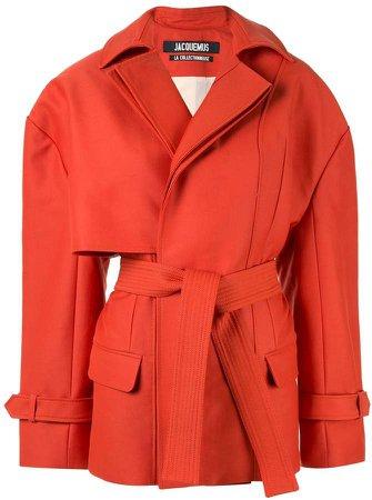 asymmetric short coat