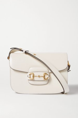 Gucci | Morsetto medium textured-leather shoulder bag | NET-A-PORTER.COM