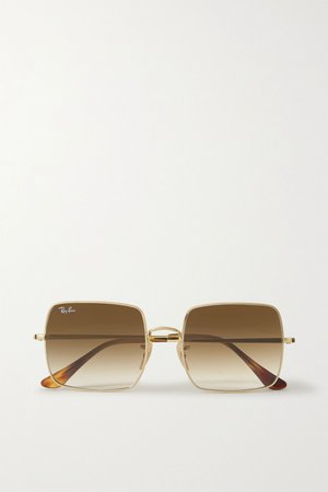 Gold Square-frame gold-tone sunglasses | Ray-Ban | NET-A-PORTER