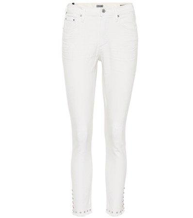 Rocket embellished crop jeans