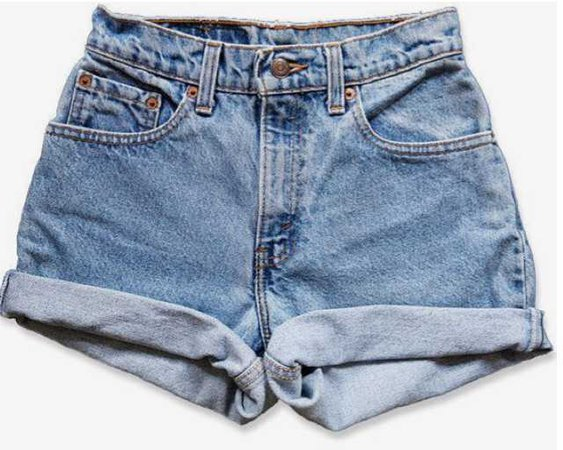 levis denim shorts high waisted vintage blue denim bottoms pants