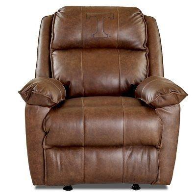 Klaussner Furniture Brandt Elite Fan Furnishings Leather Manual Rocker Recliner