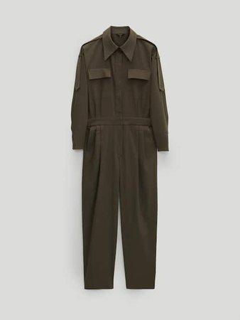 Ολόσωμη φόρμα με τσέπες από βαμβάκι και lyocell - Mulher - Massimo Dutti