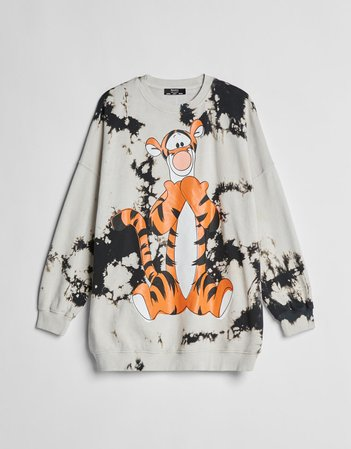 Printed cropped plush sweatshirt - Sweatshirts and Hoodies - Woman | Bershka