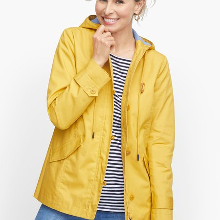 Coated Cotton Rain Jacket