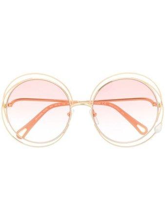 Chloé Eyewear Carlina Pearl round-frame sunglasses - FARFETCH