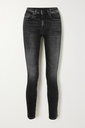 Alison Cropped High-rise Skinny Jeans - Black