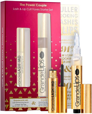 Grande Cosmetics - The Power Couple Lash & Lip Cult Faves Starter Set