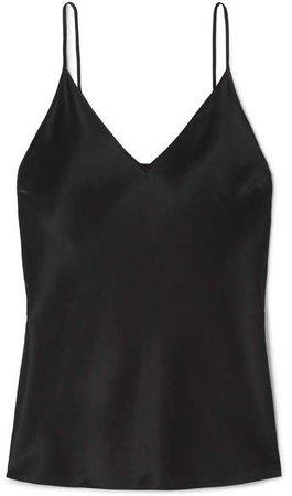 Cleo Silk-satin Camisole - Black