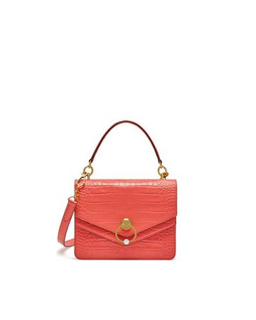 Lyst - Mulberry Harlow Satchel In Dusty Coral Croc Print
