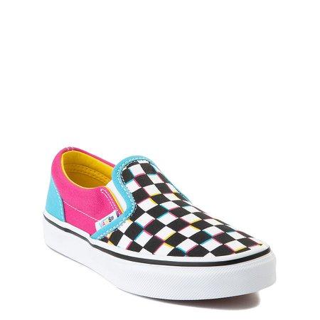 Vans Slip On Checkerboard Skate Shoe - Little Kid - Multi | Journeys Kidz