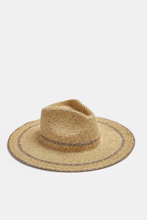 IDOL Natural Straw Fedora Hat | Topshop