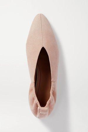 Neutral Suede ballet flats | Co | NET-A-PORTER