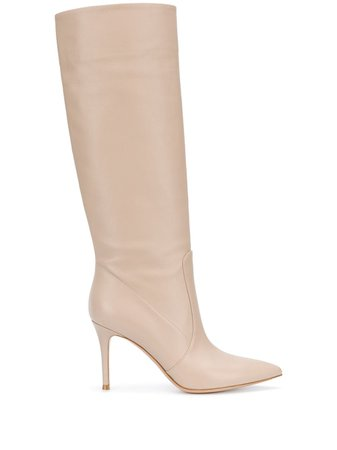 Shop Gianvito Rossi pointed knee-high boots with Express Delivery - Farfetch