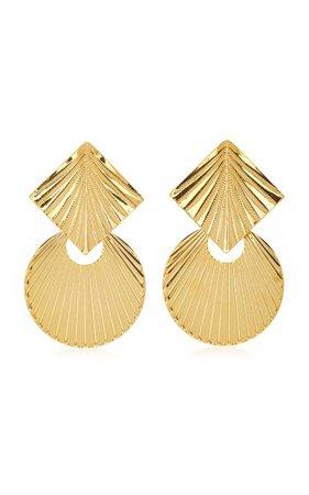 Giovanna Gold-Plated Earrings By Jennifer Behr | Moda Operandi