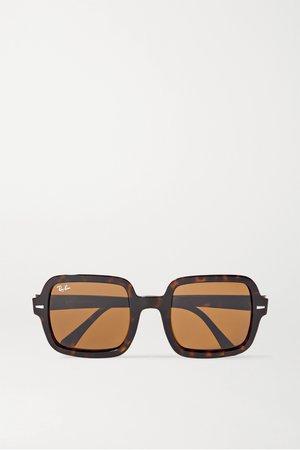 Tortoiseshell Oversized square-frame tortoiseshell acetate sunglasses | Ray-Ban | NET-A-PORTER