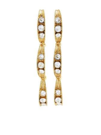 Oscar de la Renta crystal-embellished drop earrings - FARFETCH
