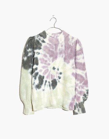 Tie-Dye Puff-Sleeve Sweater