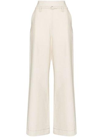 Marni wide-leg Belted Trousers - Farfetch
