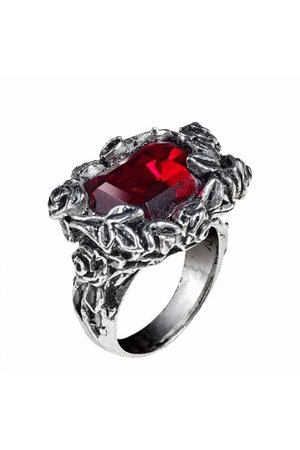 Blood Rose Ring by Alchemy Gothic | Gothic Jewellery | Rings