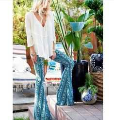 70's BOHO Flared Pants - Pinterest