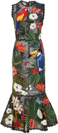 Dolce & Gabbana Embroidered Mesh Dress Size: 38