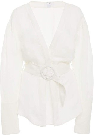 Sir The Label Siena Belted Linen Shirt