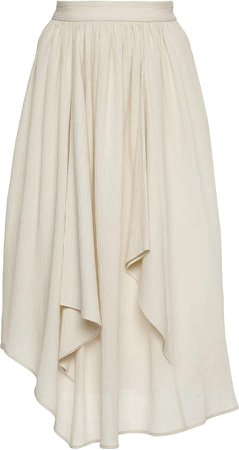 Isabel Marant Darnae Ruffled Cotton-Silk Skirt
