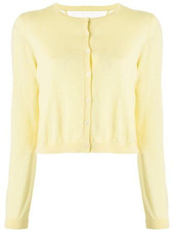 Redvalentino Round Neck Cardigan TR3KA00Z4A7 Yellow   Farfetch