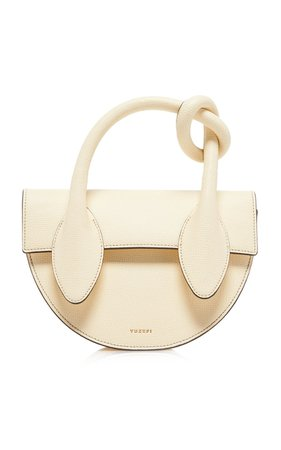 Dolores Knotted Leather Top Handle Bag by Yuzefi   Moda Operandi