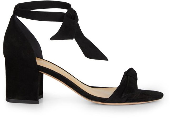 Clarita Bow Suede Sandals