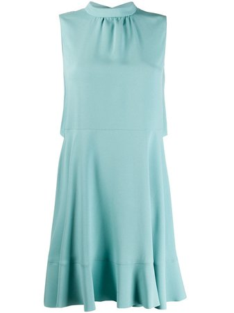Shop blue RedValentino bow detail sleeveless dress with Express Delivery - Farfetch
