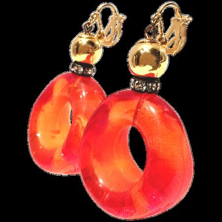 70's orange earrings - Google Search