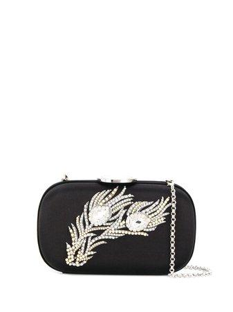 Giambattista Valli, Feather Embellished Clutch Bag