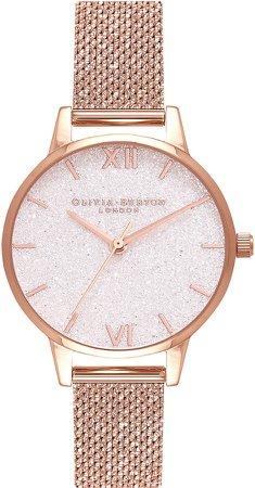 Classics Glitter Mesh Strap Watch, 30mm