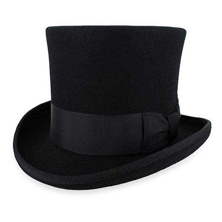 Belfry Top Hat Theater Quality 100% Wool in Black Grey Or Pearl at Amazon Men's Clothing store: