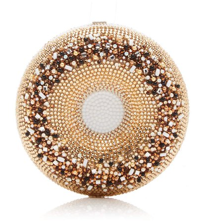 Judith Leiber Couture Everything Bagel Crystal Clutch