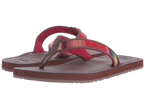 TOMS - Solana Flip Flop (Brown Multi Textile) Women's Sandals