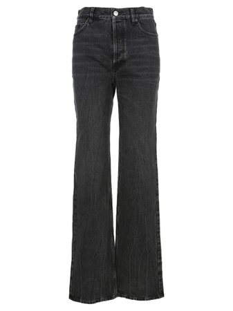 Balenciaga Stonewashed Flared Jeans