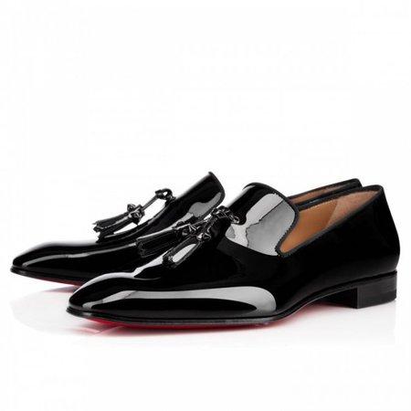 Dandelion Tassel Flat Black Patent Leather :