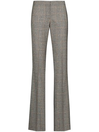 Shop Alexander McQueen Prince of Wales wool trousers with Express Delivery - Farfetch