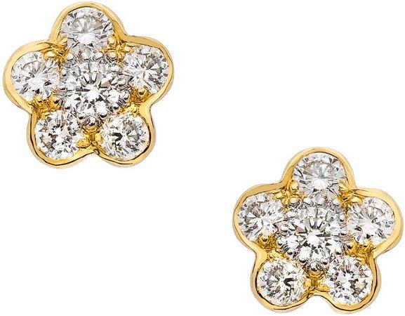 Tuileres Diamond Flower Stud Earrings