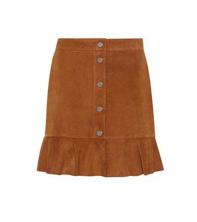 Salvia suede skirt