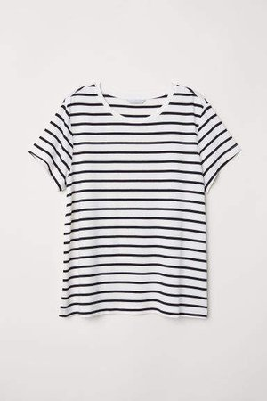 Glossy Jersey Top - White
