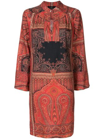Multicolour Etro paisley-print shift dress 189915139 - Farfetch